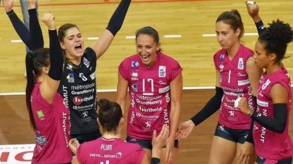 Феноменален мач за своя Нанси изигра волейболистката Русена Сланчева. Българката,