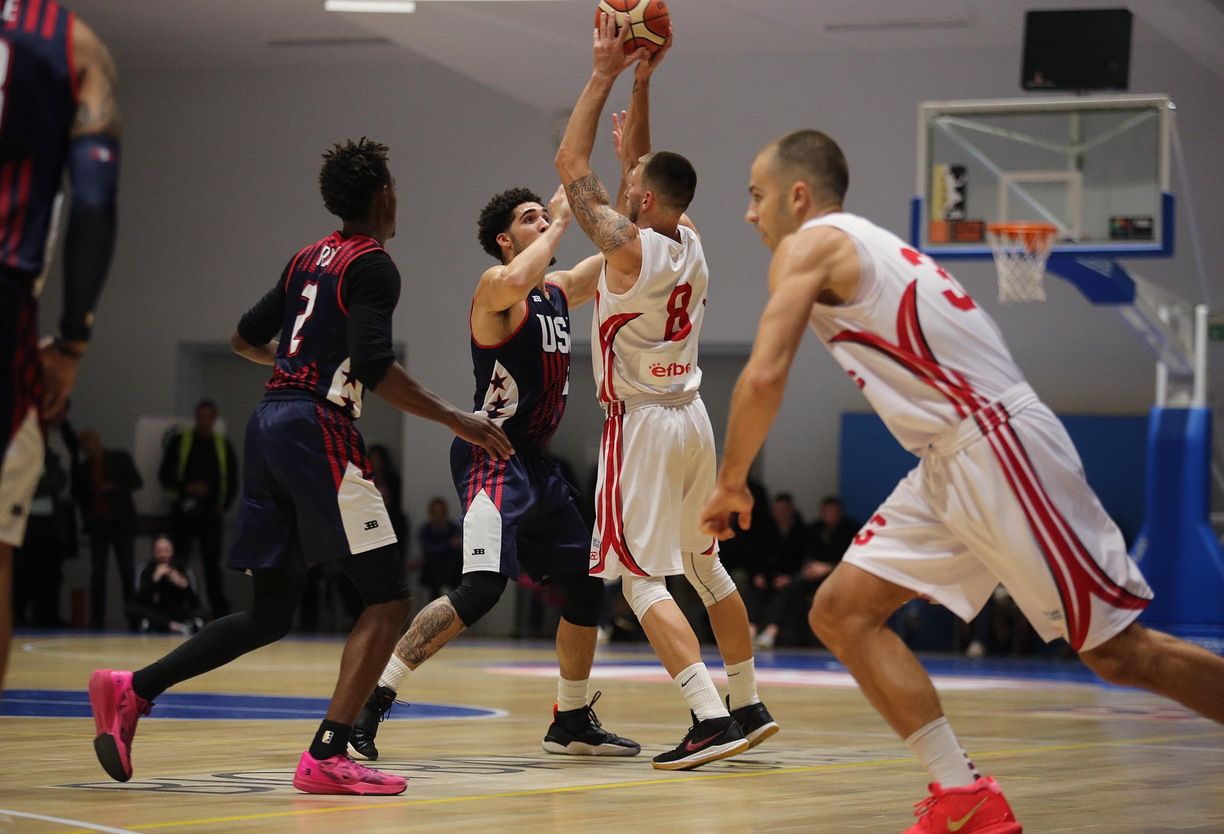 Отборите на Академик София и JBA USA съотвориха истински баскетболен