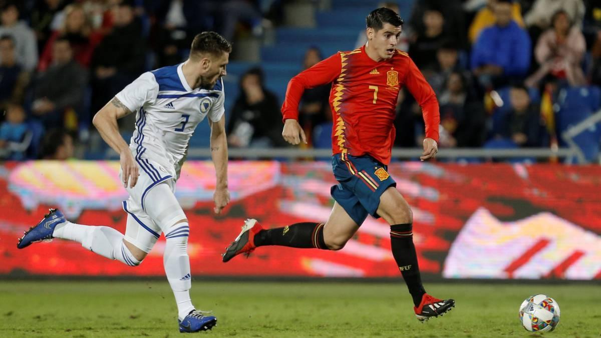Националният отбор на Испания постигна минимална победа с 1:0 срещу