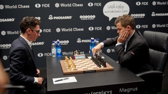 Шампионът Магнус Карлсен (Норвегия) и претендентът Фабиано Каруана (САЩ) завършиха