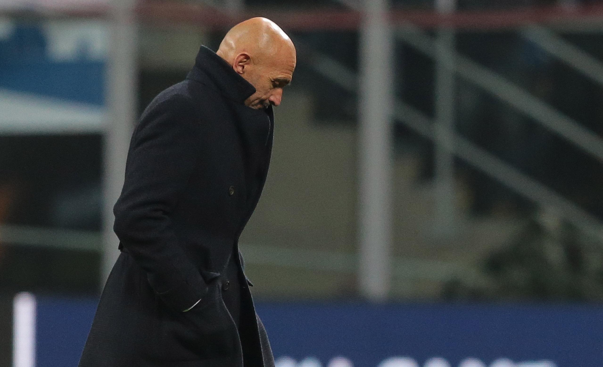 Треньорът на Интер Лучано Спалети бе разочарован от представянето на