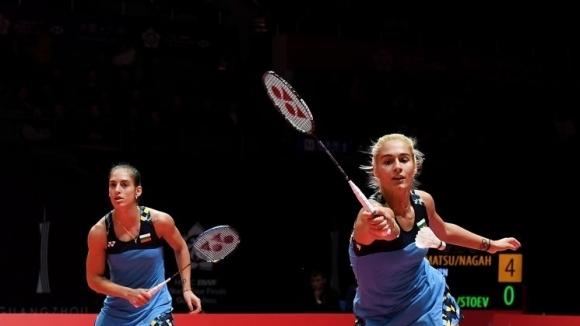 Европейските шампионки по бадминтон на двойки жени Стефани Стоева и