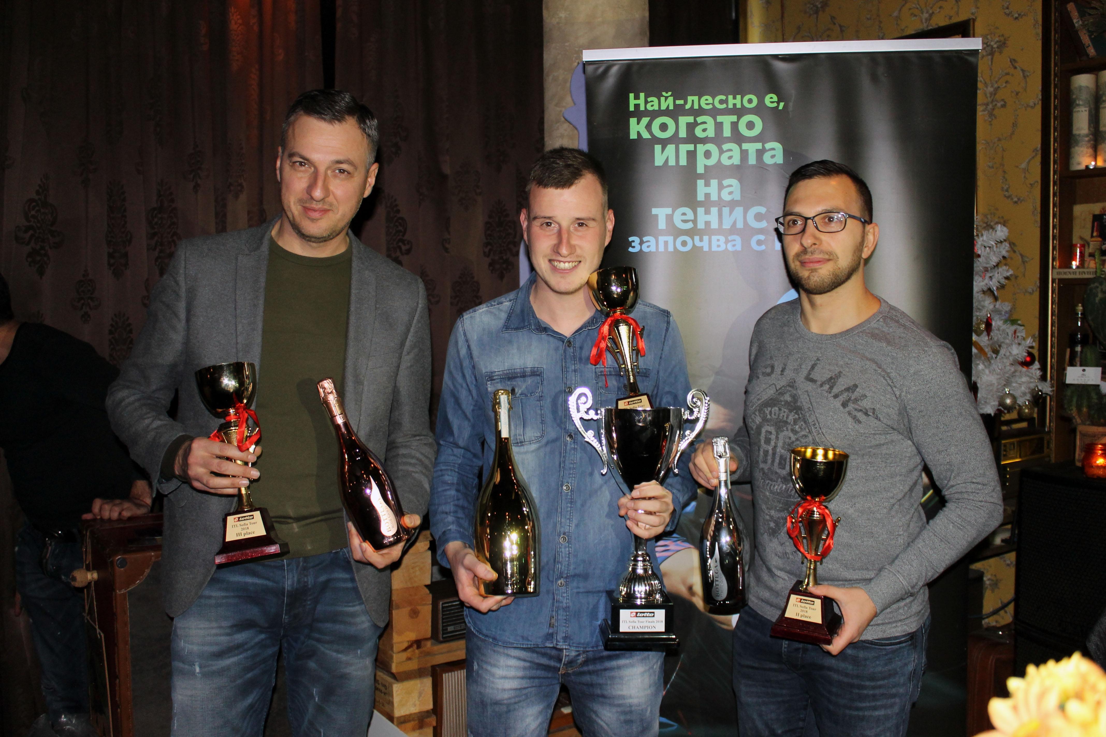 Големият шампион на Интерактив тенис за изминалия сезон година е