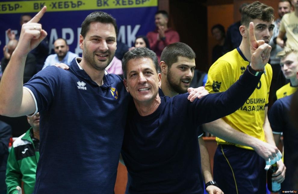 Двама от най-важните фигури за волейболния Хебър - треньорът Атанас