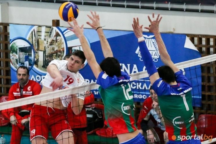 Лидерът във волейболната Суперлига на България за мъже ЦСКА записа