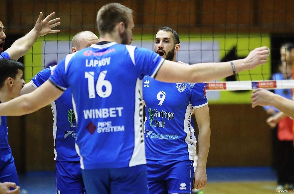 Волейболистите на Левски записаха втора поредна и общо 8-а победа