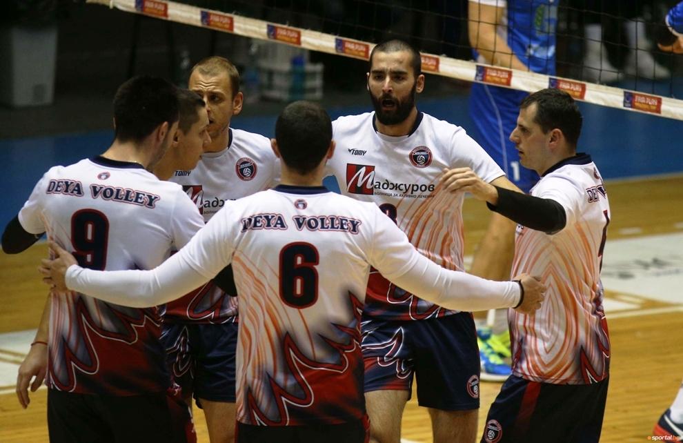 Волейболният отбор на Дея спорт (Бургас) спечели дербито в дъното