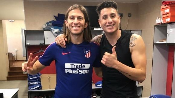 Футболистите на Атлетико Мадрид не пропускат да си правят шеги