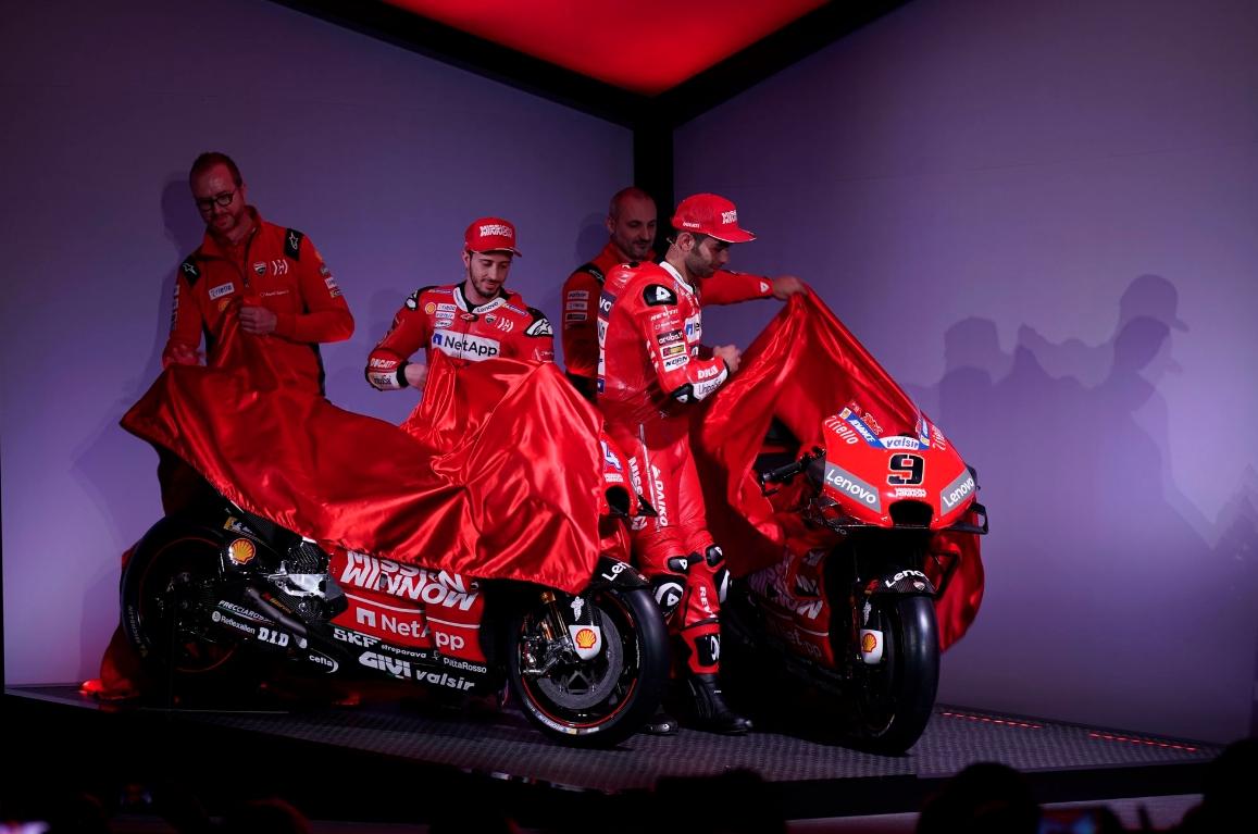 Ducati представиха новия си мотор за сезон 2019 в MotoGP,