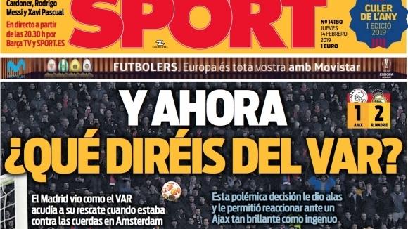 Двете най-популярни каталунски спортни издания моментално атакуваха вечния съперник на