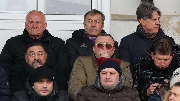 Спряганият за спортен директор на Левски Кристиано Джарета изгледа гостуването