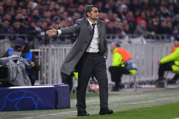Треньорът на Барселона Ернесто Валверде не беше напълно доволен след