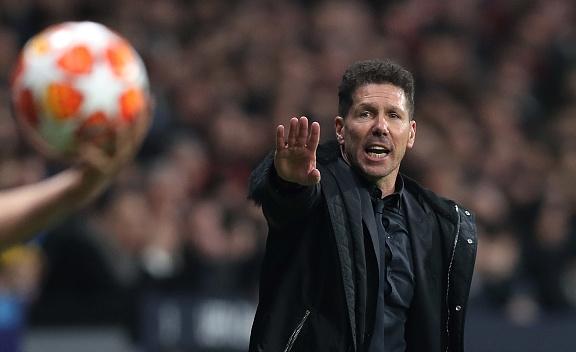 Наставникът на Атлетико Мадрид Диего Симеоне вече заема шесто място
