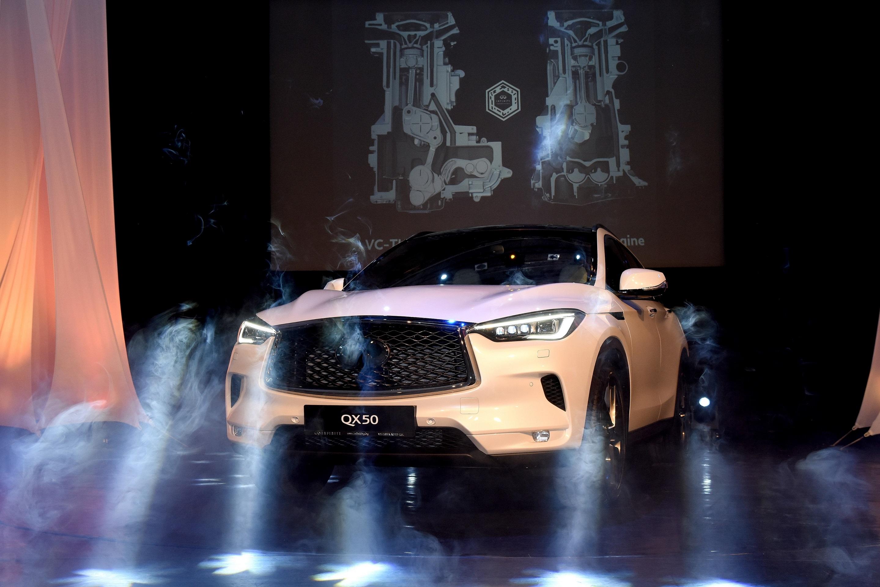 Новият премиум SUV INFINITI QX50 беше представен вчера в България