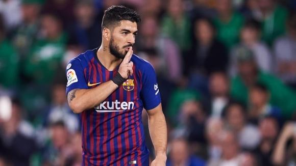 Нападателят на Барселона Луис Суарес ще се възстановява 10-15 дни,
