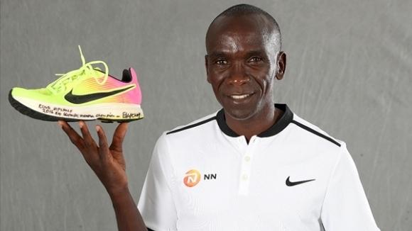 Действащият олимпийски шампион и световен рекордьор в маратона Елиуд Кипчоге