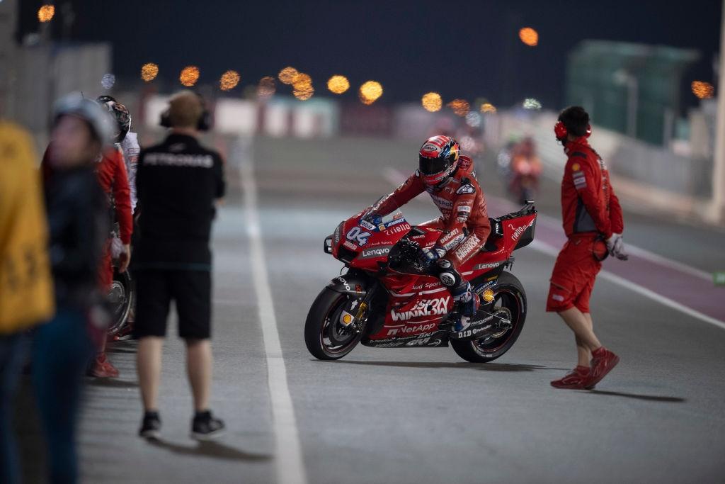Задното крило на мотора на Ducati, с който Андреа Довициозо