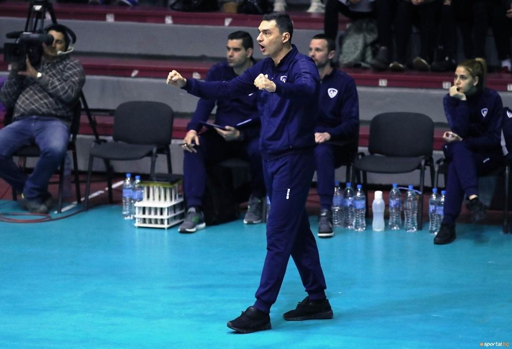 Старши треньорът на волейболния Левски Владимир Николов коментира поражението с