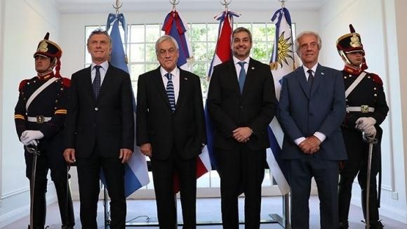 Общата кандидатура на Аржентина, Уругвай и Парагвай и Чили е