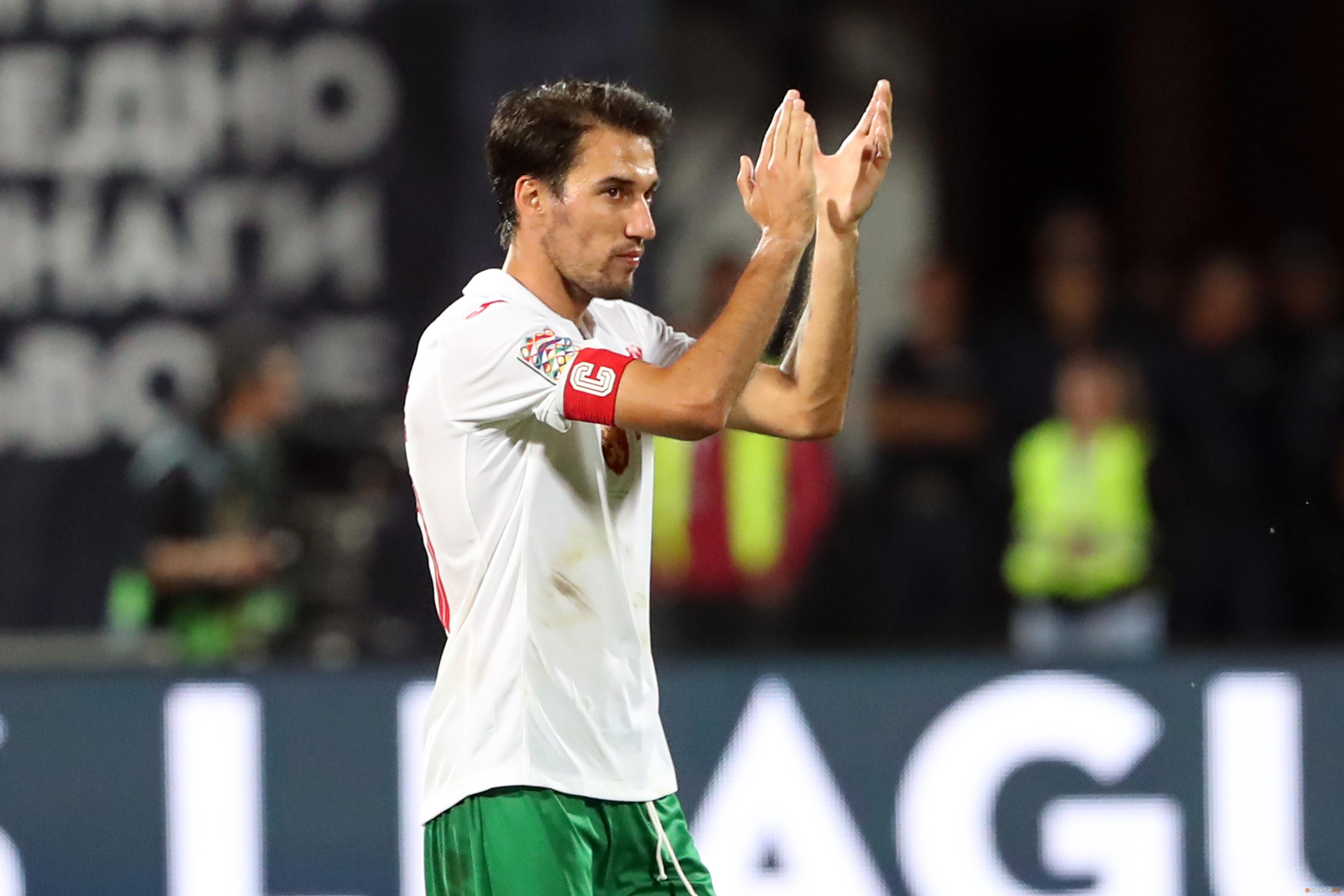 Капитанът на България Ивелин Попов ще изпревари днес Димитър Бербатов