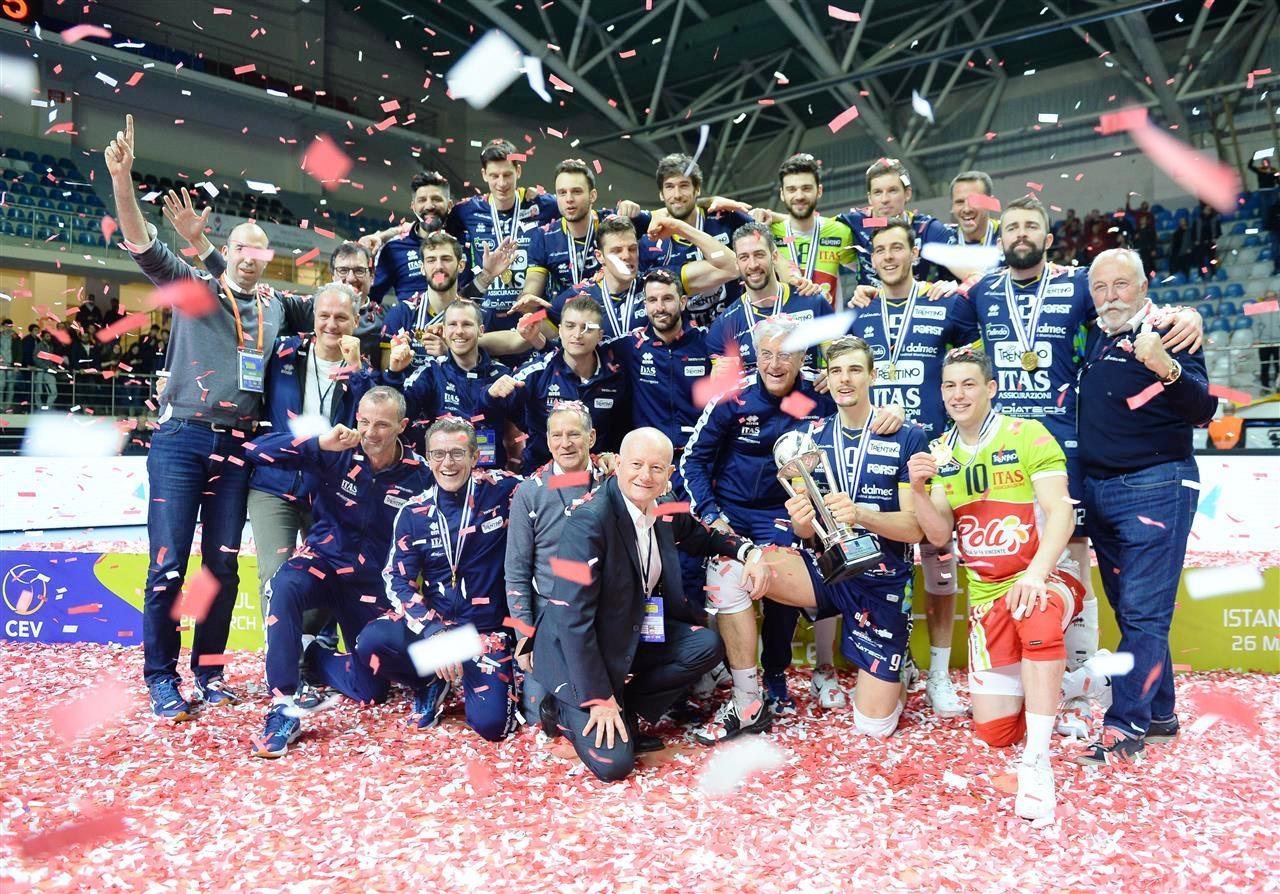 Италианският волейболен гранд Итас (Тренто) успя да спечели единствения трофей,