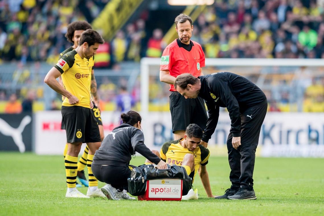 Наложилият се в Борусия (Дортмунд) Ашраф Хакими няма да играе