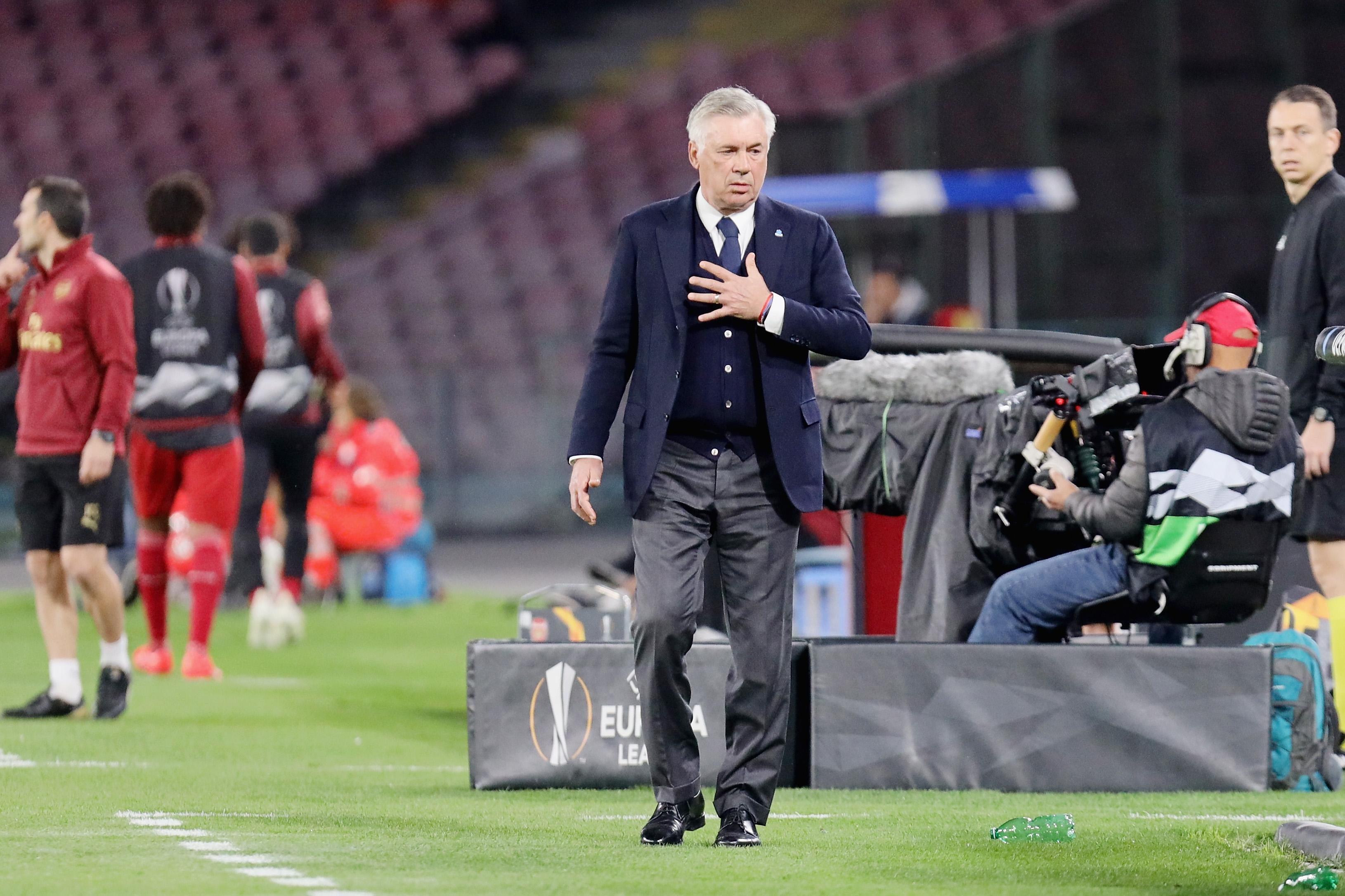 Треньорът на Наполи Карло Анчелоти изрази разочарованието си от втората
