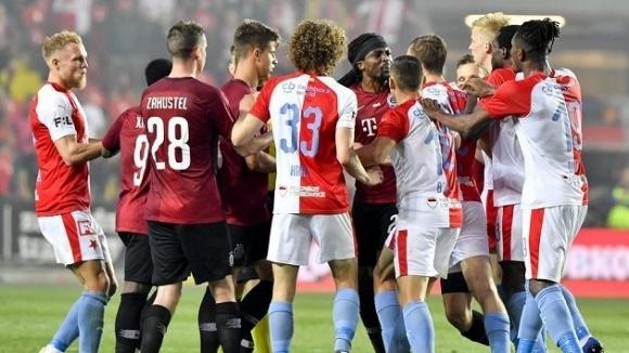 Славия (Прага) разгроми с 3:0 Спарта (Прага) в дербито от