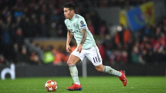 Полузащитникът на Байерн (Мюнхен) Хамес Родригес ще пропусне мача от