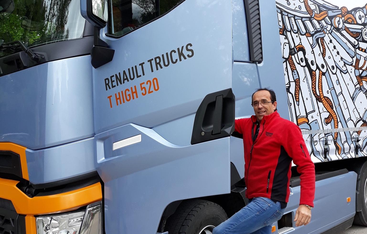 Световният шампион по ефективно шофиране на камиони от 2017 година