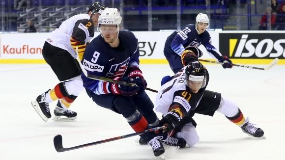 Отборът на САЩ победи с 3:1 (1:1, 0:0, 2:0) Германия