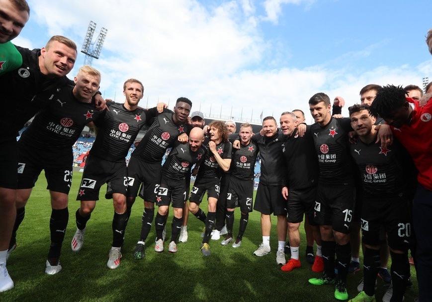 Славия (Прага) спечели шампионската титла на Чехия.