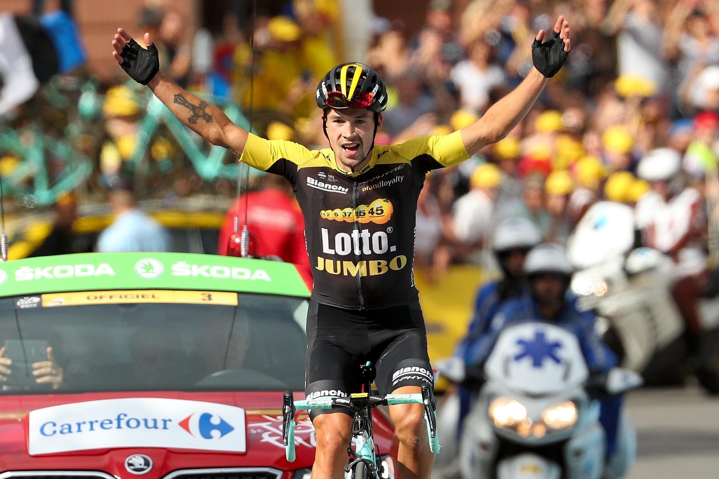 Словенецът Примож Роглич спечели деветия етап от колоездачната обиколка на
