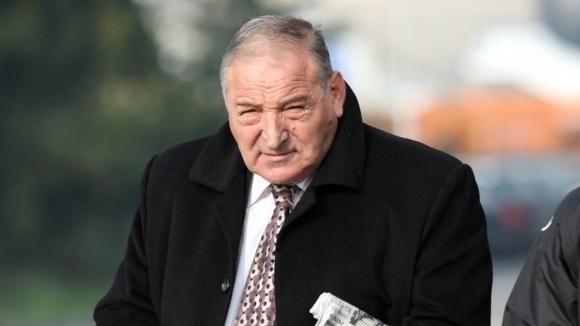 Почетният президент на ЦСКА-София Димитър Пенев говори след успеха над