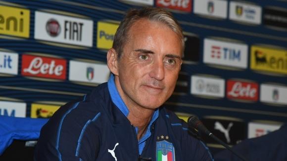 Селекционерът на националния отбор на Италия Роберто Манчини беше помолен