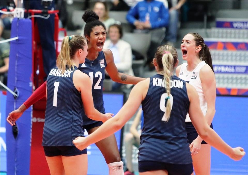 Победителките във Волейболната Лига на нациите при жените през миналата