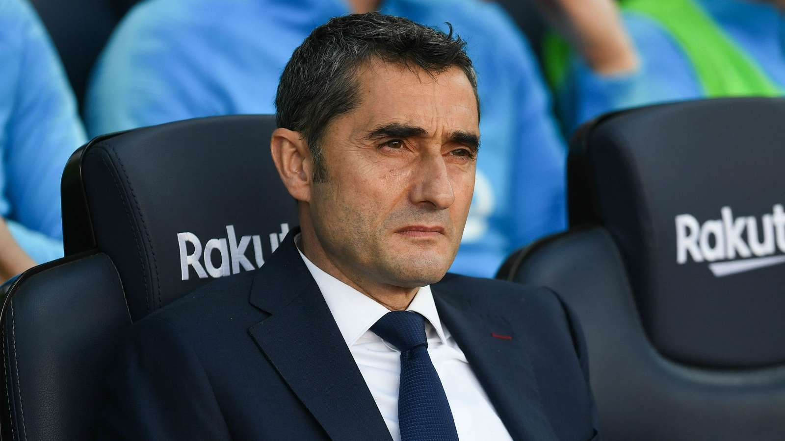 Треньорът на Барселона Ернесто Валверде говори преди финала с Валенсия
