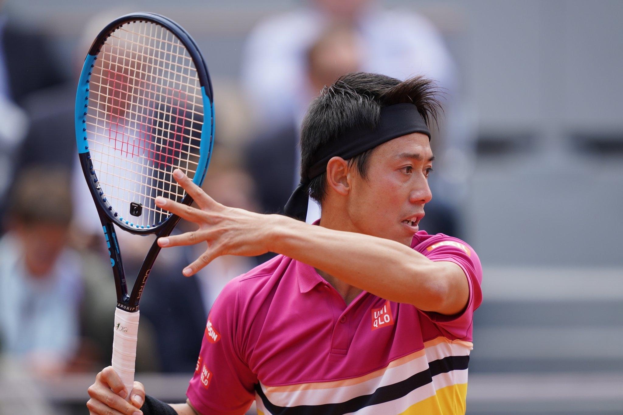 Поставеният под №7 японец Кей Нишикори преодоля втория кръг на