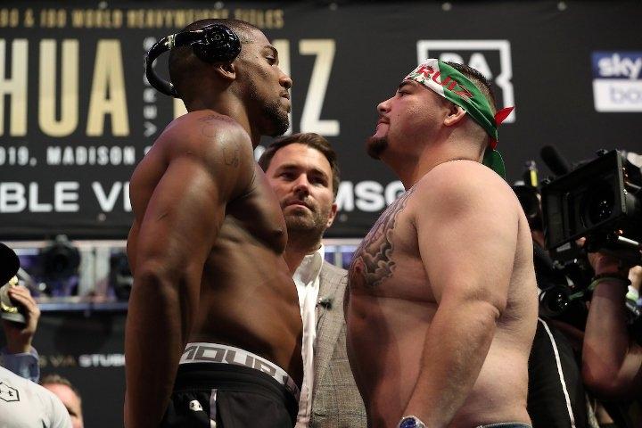 Антъни Джошуа (22-0, 21 KOs) и Анди Руис (32-1, 21