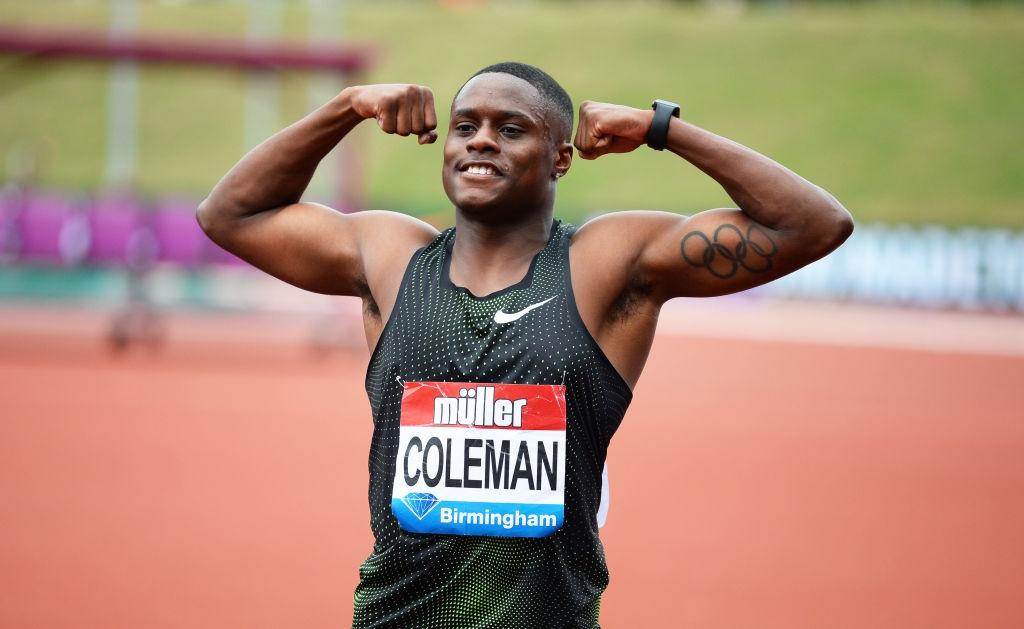 Световният рекордьор в спринта на 60 метра Крисчън Коулман (САЩ)