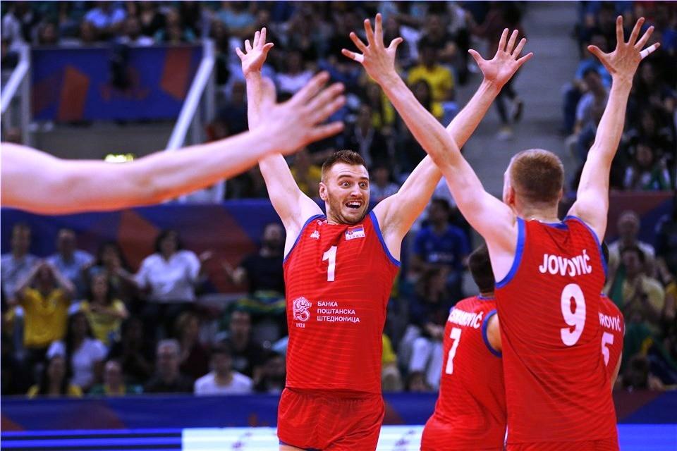 Националния волейболен отбор на Сърбия нанесе първа загуба на олимпийския