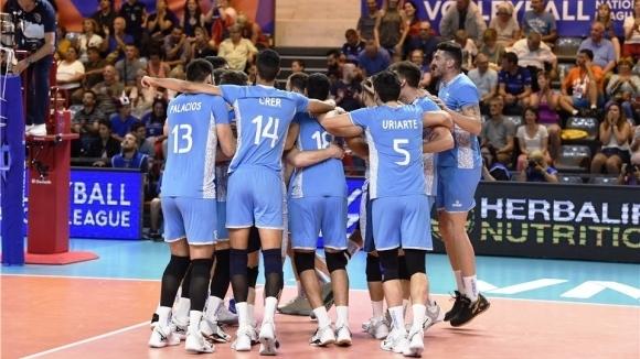 Националният волейболен отбор на Аржентина записа малко очаквана 3-а победа