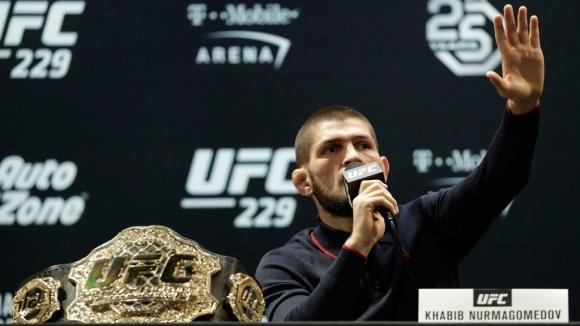 Шампионът на UFC в лека категория Хабиб Нурмагомедов не вижда