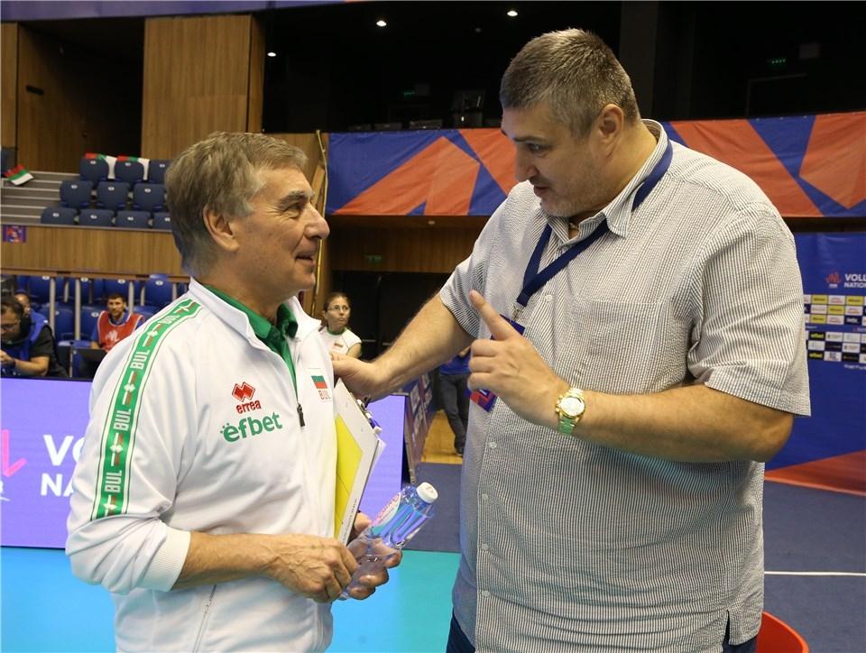 Селекционерът на България Силвано Пранди говори преди тимът ни да
