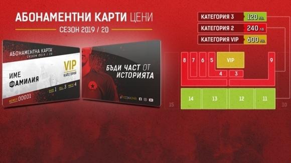 ЦСКА 1948 пусна абонаментните карти за новия сезон. Те ще