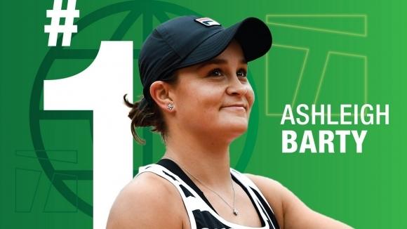 Новата водачка в световната ранглиста по тенис Ашли Барти (Австралия)