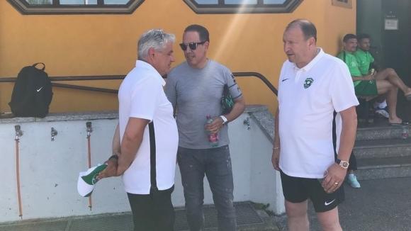 Кирил и Георги Домусчиеви пристигнаха на стадиона в Куфщайн, където