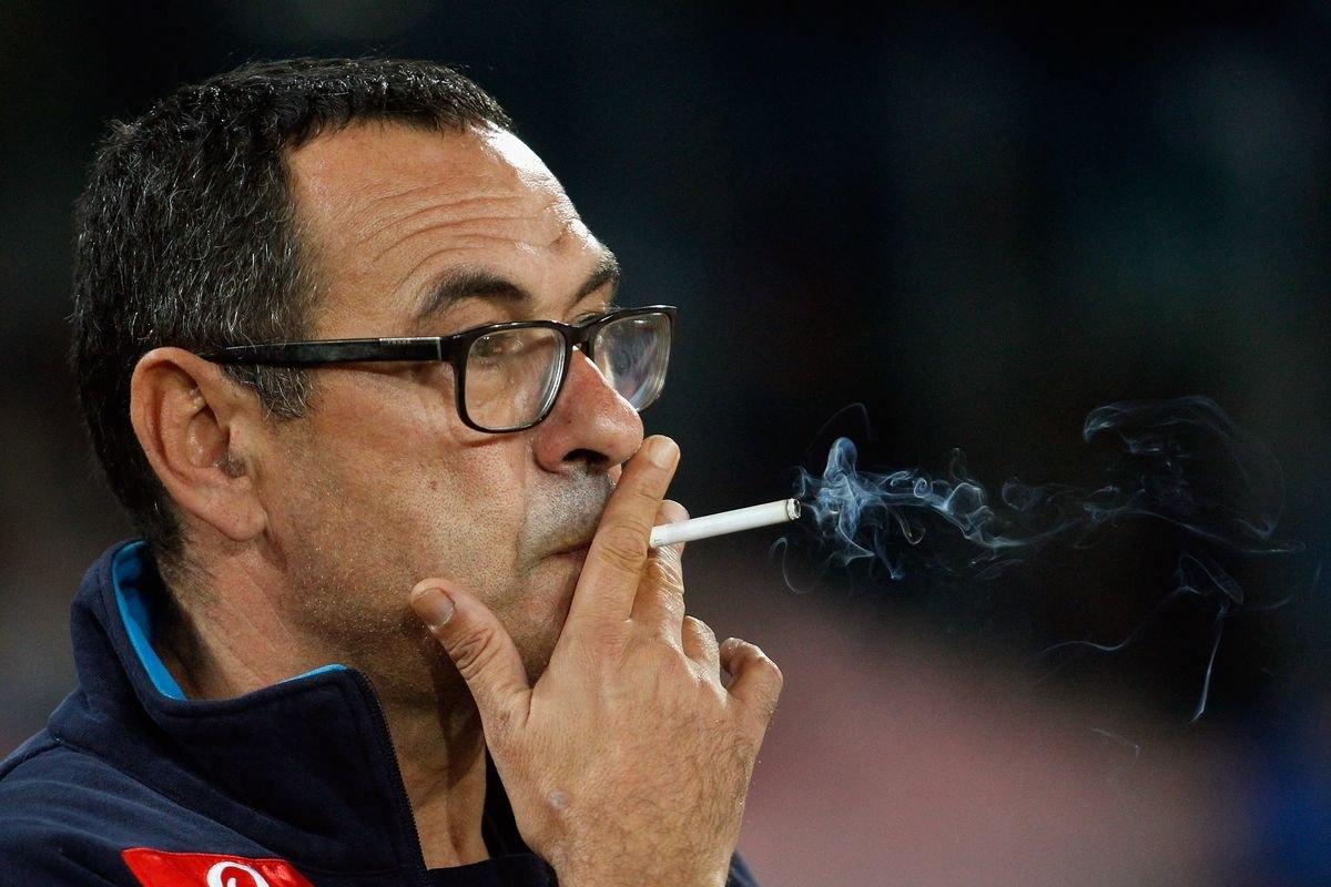 Новият треньор на Ювентус Маурицио Сари призна, че пуши прекалено