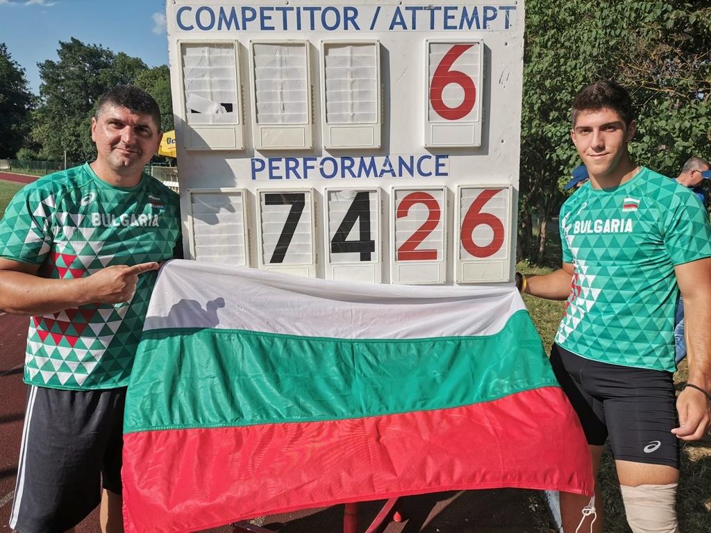 Снимка: Нов национален рекорд за Валентин Андреев в Румъния