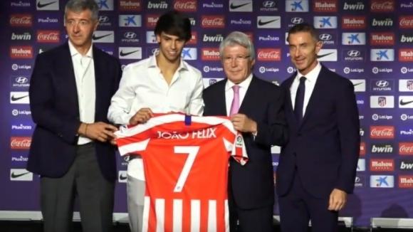Отборът на Атлетико Мадрид официално представи Жоао Феликс като свой